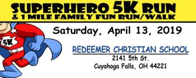 Redeemer Superhero 5K Run and 1 mile Family Fun Run!